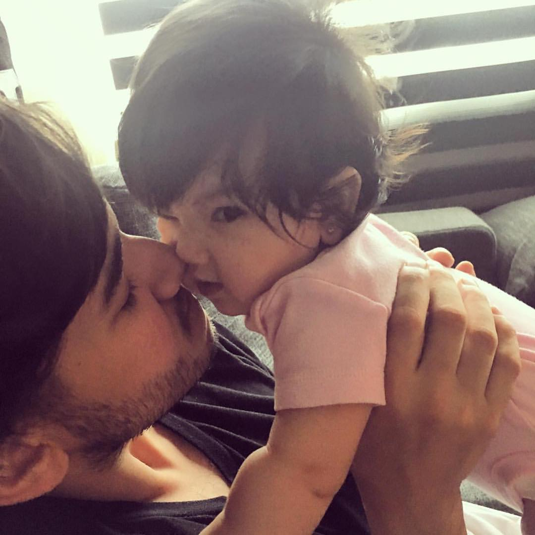These adorable photos of Matt Evans with his daughter prove he's definitely your #DaddyGoals